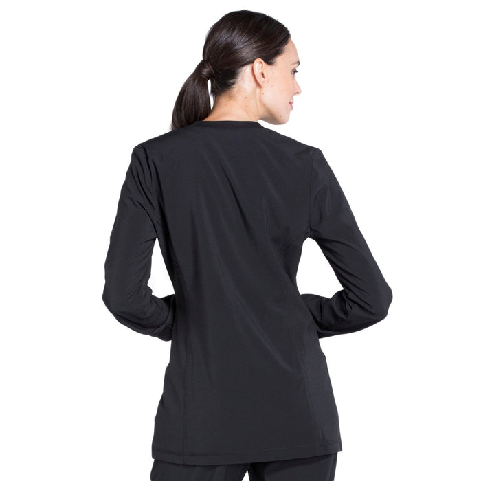 Cherokee Infinity CK370A Scrubs Jacket Women's Zip Front Warm-Up Black 3XL