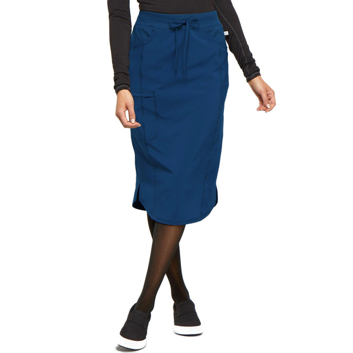 Cherokee Infinity CK505A Skirt Women's Drawstring Skirt Navy