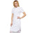 "Cherokee Infinity CK510A Dress Women's 39"" Button Front White L"