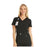 Cherokee iflex CK605 Scrubs Top Women's V-Neck Knit Panel Black