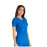 Cherokee iflex CK605 Scrubs Top Women's V-Neck Knit Panel Royal 5XL