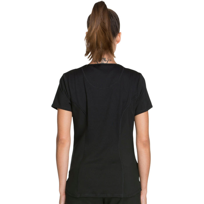 Cherokee Infinity CK623A Scrubs Top Women's V-Neck Black 3XL