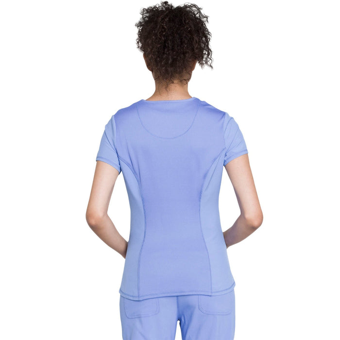 Cherokee Infinity CK623A Scrubs Top Women's V-Neck Ciel Blue 3XL