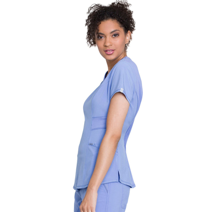 Cherokee Infinity CK623A Scrubs Top Women's V-Neck Ciel Blue 4XL