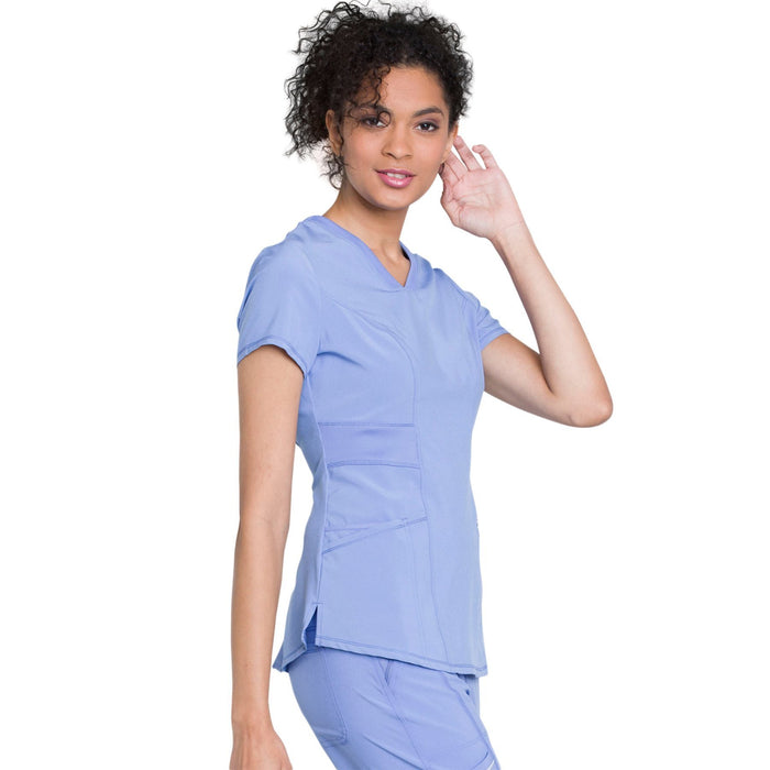 Cherokee Infinity CK623A Scrubs Top Women's V-Neck Ciel Blue 5XL