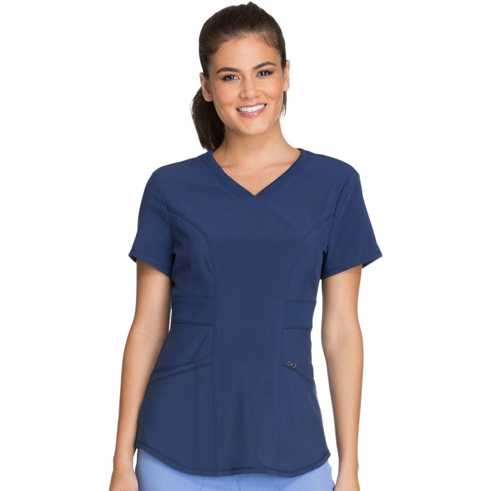 Cherokee Infinity CK623A Scrubs Top Women's V-Neck Navy