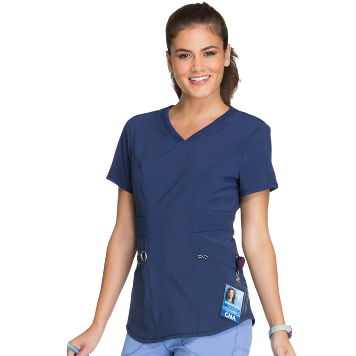 Cherokee Infinity CK623A Scrubs Top Women's V-Neck Navy 4XL