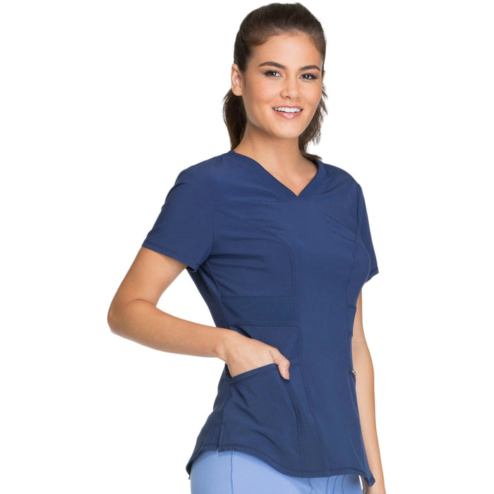 Cherokee Infinity CK623A Scrubs Top Women's V-Neck Navy 5XL
