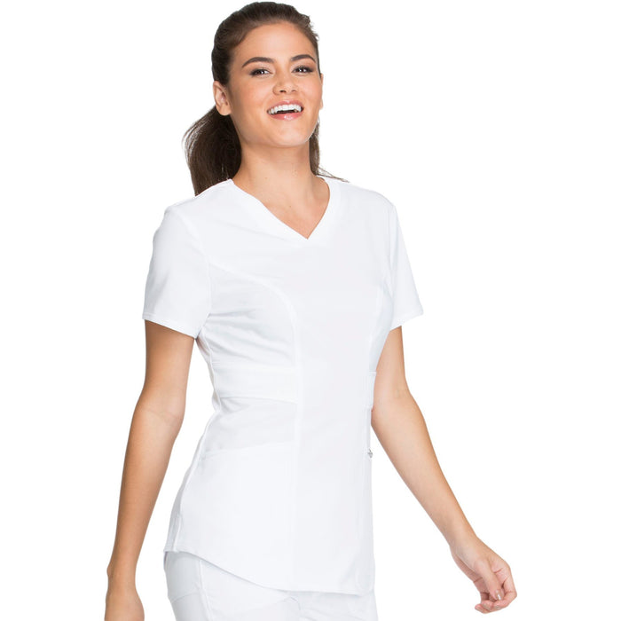 Cherokee Infinity CK623A Scrubs Top Women's V-Neck White 5XL