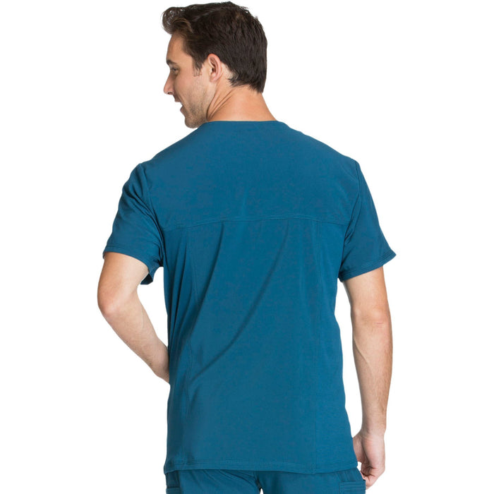 Cherokee Infinity CK900A Scrubs Top Men's V-Neck Caribbean Blue 3XL