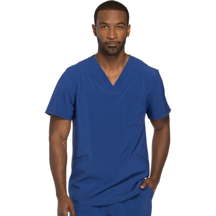 Cherokee Infinity CK900A Scrubs Top Men's V-Neck Galaxy Blue