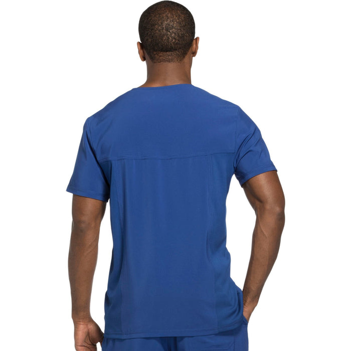 Cherokee Infinity CK900A Scrubs Top Men's V-Neck Galaxy Blue 3XL