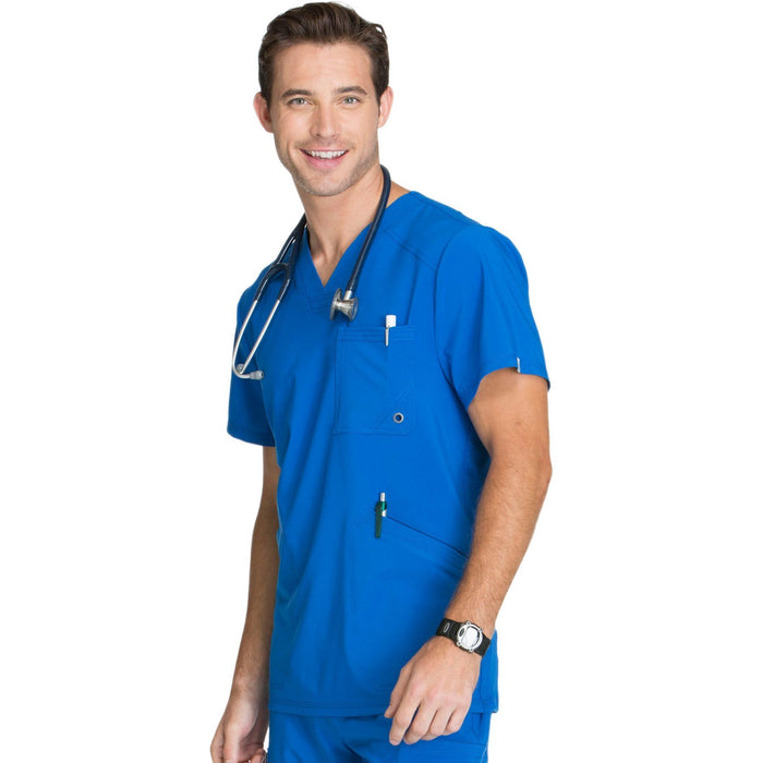 Cherokee Infinity CK900A Scrubs Top Men's V-Neck Royal 4XL