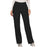 Cherokee Workwear Revolution WW110 Scrubs Pants Women's Mid Rise Straight Leg Pull-on Black