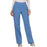 Cherokee Workwear Revolution WW110 Scrubs Pants Women's Mid Rise Straight Leg Pull-on Ciel Blue