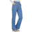Cherokee Workwear Revolution WW110 Scrubs Pants Women's Mid Rise Straight Leg Pull-on Ciel Blue 4XL