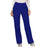 Cherokee Workwear Revolution WW110 Scrubs Pants Women's Mid Rise Straight Leg Pull-on Galaxy Blue