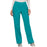 Cherokee Workwear Revolution WW110 Scrubs Pants Women's Mid Rise Straight Leg Pull-on Teal Blue
