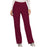Cherokee Workwear Revolution WW110 Scrubs Pants Women's Mid Rise Straight Leg Pull-on Wine
