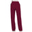 Cherokee Workwear Revolution WW110 Scrubs Pants Women's Mid Rise Straight Leg Pull-on Wine 3XL