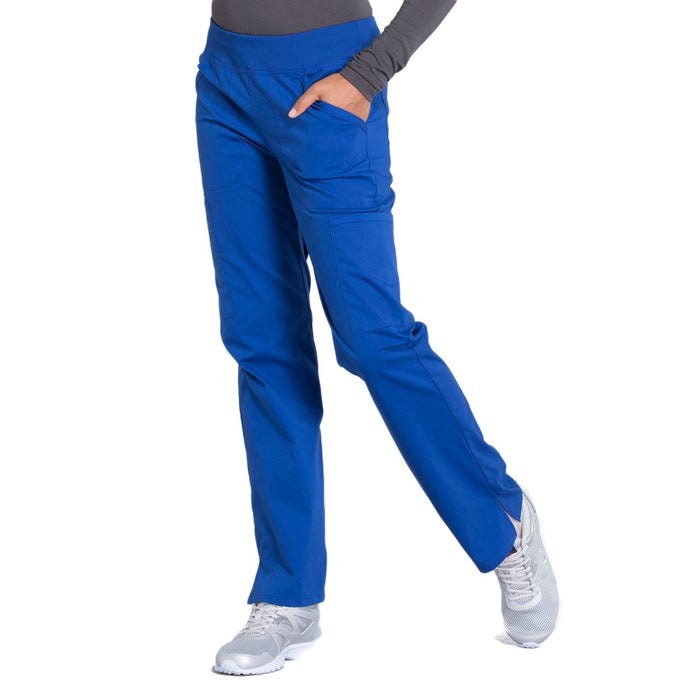 Cherokee Workwear Professionals WW170 Scrubs Pants Women's Mid Rise Straight Leg Pull-on Cargo Galaxy Blue 4XL