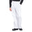 Cherokee Workwear Professionals WW190 Scrubs Pants Men's Tapered Leg Drawstring Cargo White