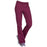 Cherokee Workwear WW210 Scrubs Pants Women's Mid Rise Straight Leg Pull-on Cargo Wine
