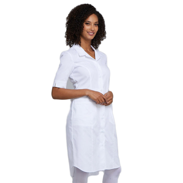 Cherokee Workwear Professionals WW500 Dress Women's Button Front White 5XL