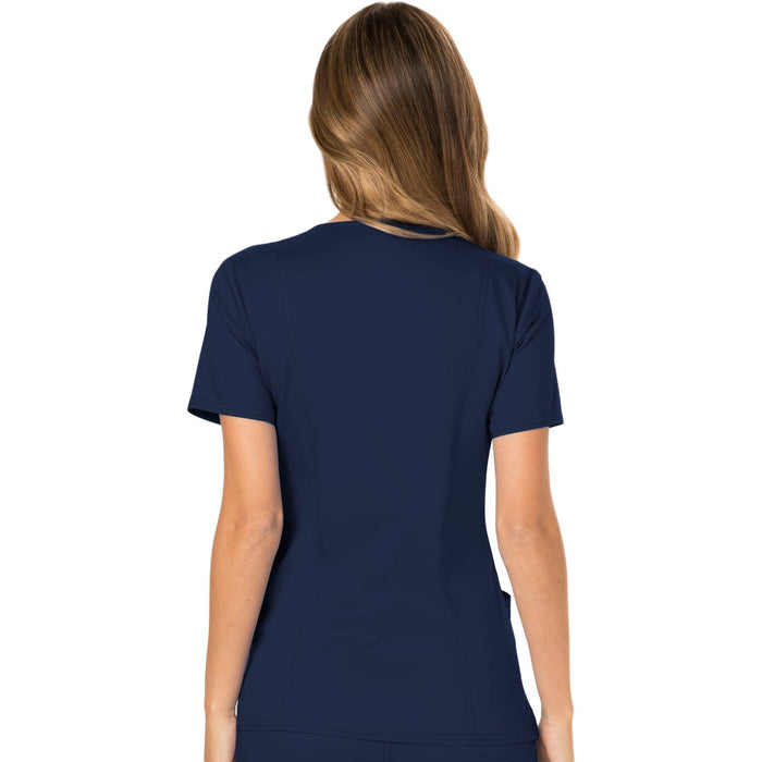 Cherokee Workwear Revolution WW610 Scrubs Top Women's Mock Wrap Navy 3XL