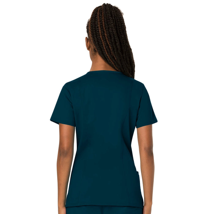 Cherokee Workwear Revolution WW620 Scrubs Top Women's V-Neck Caribbean Blue 3XL