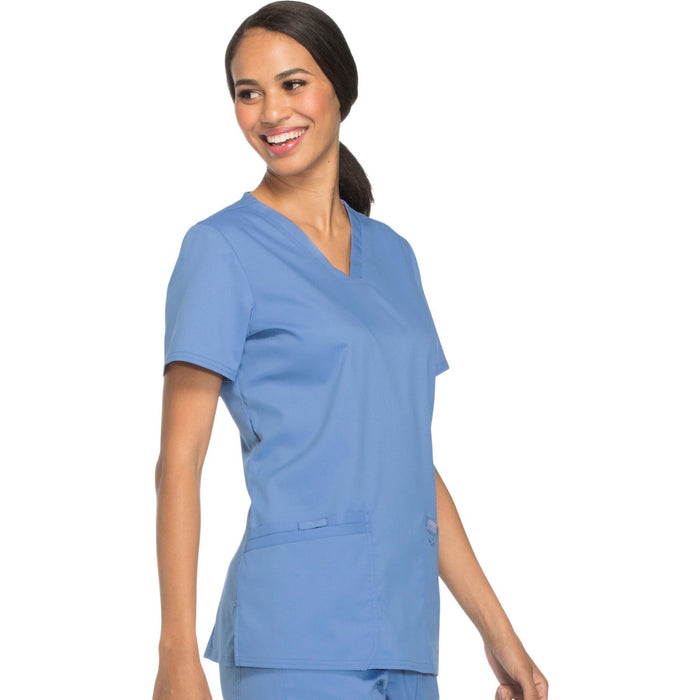 Cherokee Workwear Revolution WW620 Scrubs Top Women's V-Neck Ciel Blue 5XL