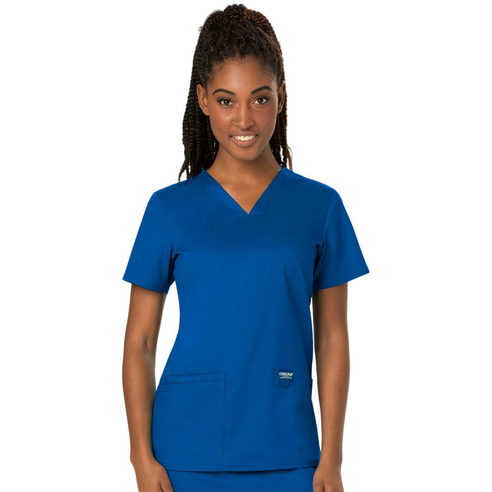 Cherokee Workwear Revolution WW620 Scrubs Top Women's V-Neck Royal