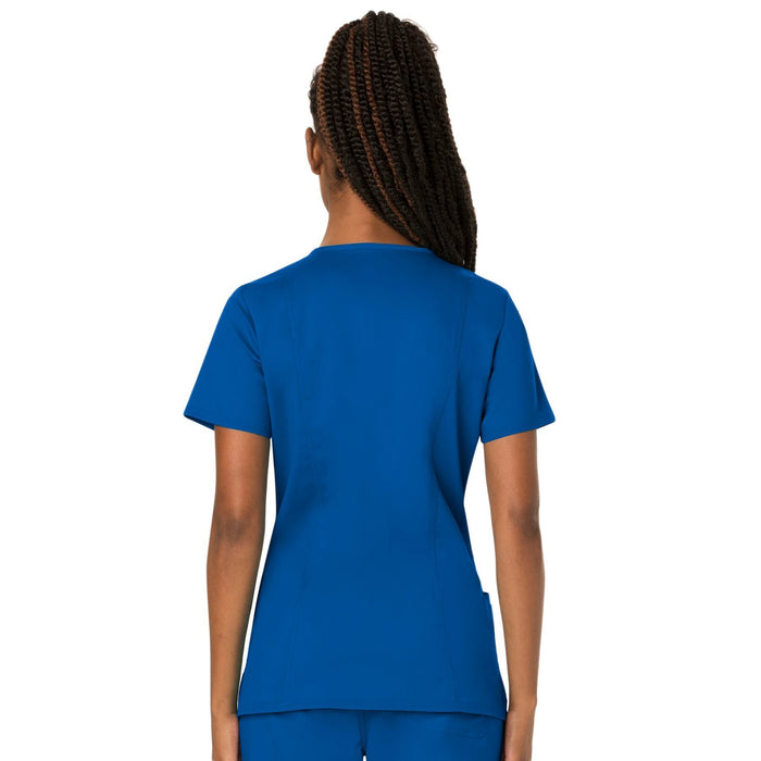 Cherokee Workwear Revolution WW620 Scrubs Top Women's V-Neck Royal 3XL