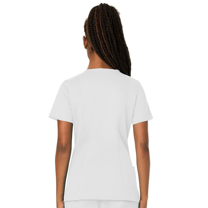Cherokee Workwear Revolution WW620 Scrubs Top Women's V-Neck White 3XL