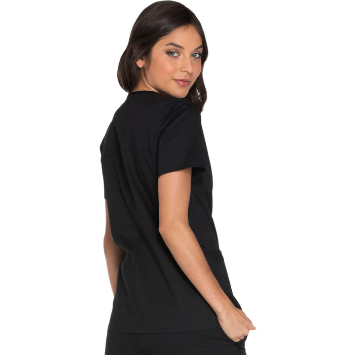 Cherokee Core Stretch WW630 Scrubs Top Women's V-Neck Black 3XL
