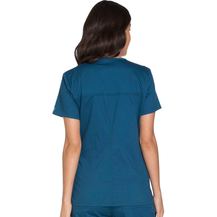 Cherokee Core Stretch WW630 Scrubs Top Women's V-Neck Caribbean Blue 3XL