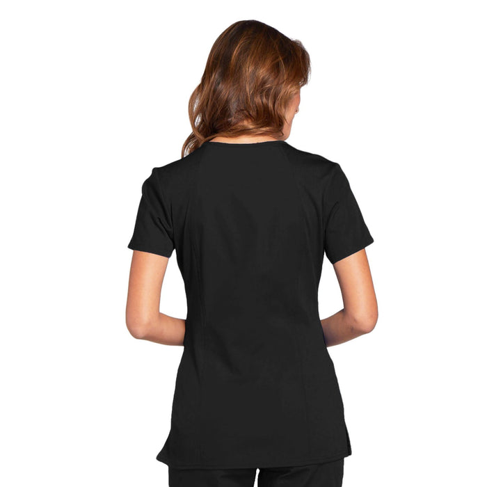 Cherokee Workwear WW645 Scrubs Top Women's V-Neck Black 3XL