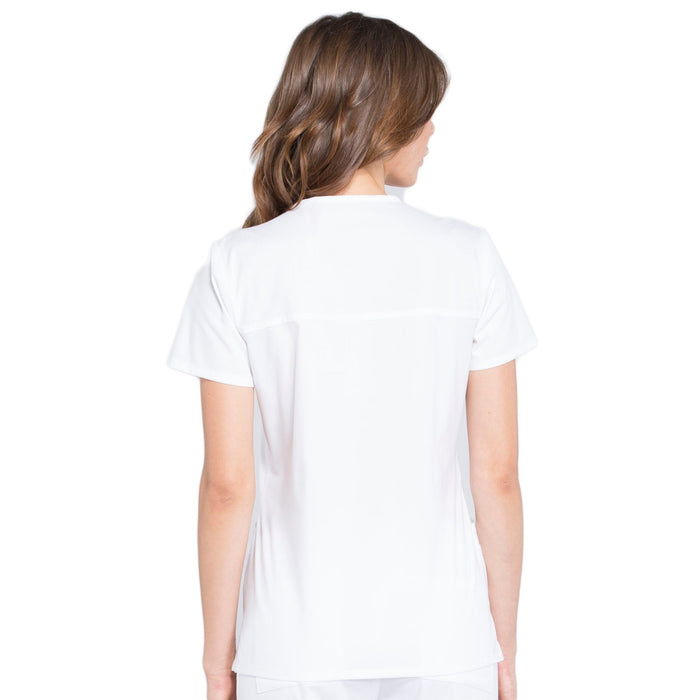 Cherokee Workwear Professionals WW655 Scrubs Top Women's Mock Wrap White 3XL