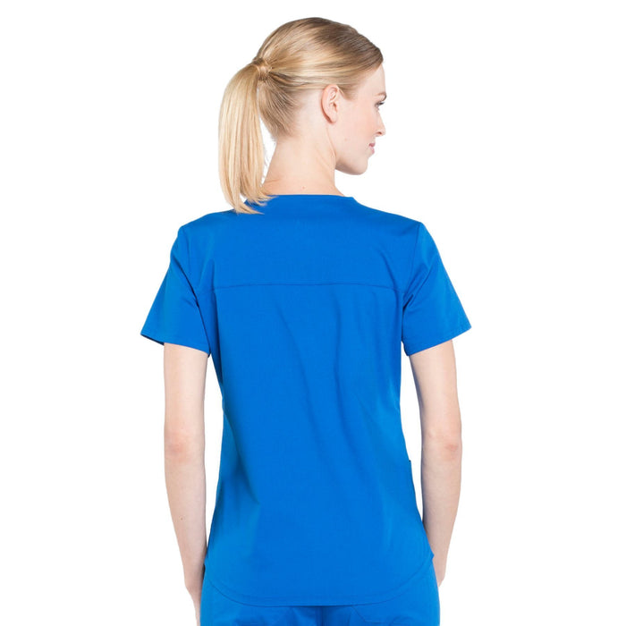 Cherokee Workwear Professionals WW665 Scrubs Top Women's V-Neck Royal 3XL