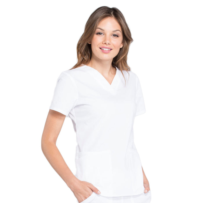 Cherokee Workwear Professionals WW665 Scrubs Top Women's V-Neck White 5XL
