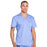 Cherokee Workwear Revolution WW670 Scrubs Top Men's V-Neck Ciel Blue