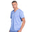 Cherokee Workwear Revolution WW670 Scrubs Top Men's V-Neck Ciel Blue 4XL