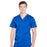 Cherokee Workwear Revolution WW670 Scrubs Top Men's V-Neck Galaxy Blue