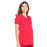 Cherokee Workwear Professionals WW685 Scrubs Top Maternity Mock Wrap Red M