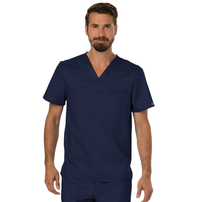 Cherokee Workwear Revolution WW690 Scrubs Top Men's V-Neck Navy