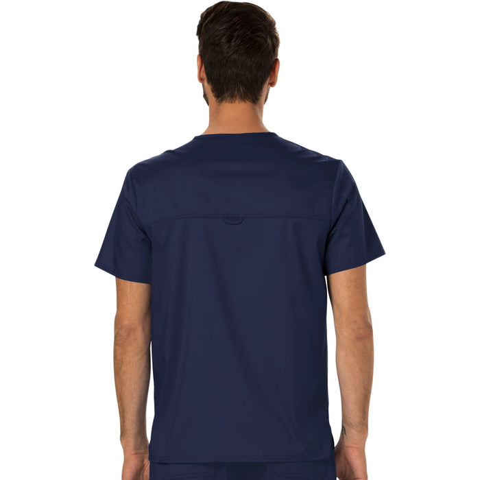 Cherokee Workwear Revolution WW690 Scrubs Top Men's V-Neck Navy 3XL