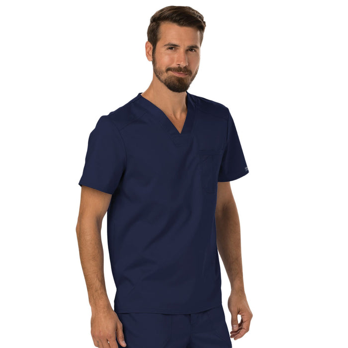 Cherokee Workwear Revolution WW690 Scrubs Top Men's V-Neck Navy 4XL