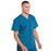Cherokee Workwear Professionals WW695 Scrubs Top Men's V-Neck Caribbean Blue 5XL