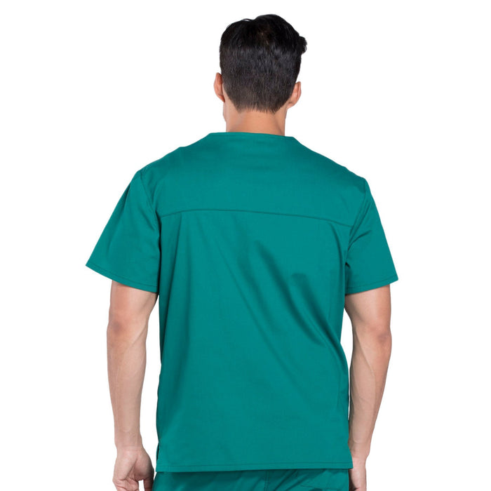 Cherokee Workwear Professionals WW695 Scrubs Top Men's V-Neck Hunter Green 3XL