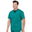 Cherokee Workwear Professionals WW695 Scrubs Top Men's V-Neck Hunter Green 4XL